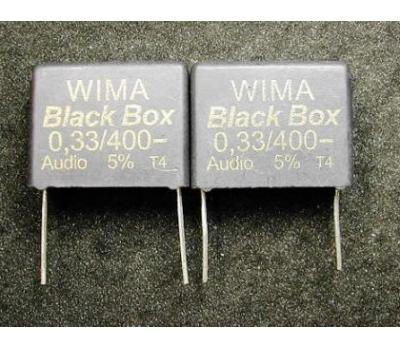 WIMA Black Box 0.33uF 400V Polypropylene Film Metallized Electrodes Capacitor (1PC)