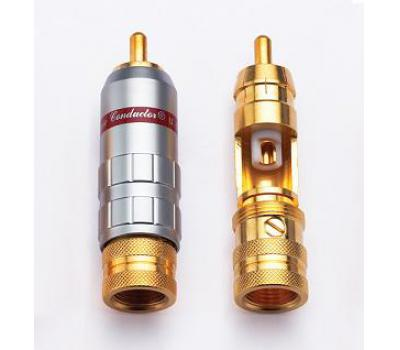 CMC 1016-WU 24K Gold Plated RCA Male Plug (2 PCS)