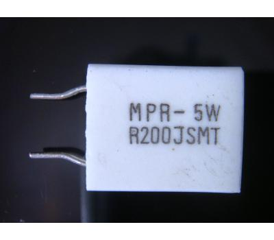 Cement 0.2 Ohm 5W Non-inductance Resistor