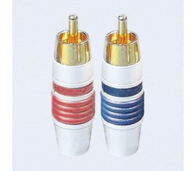 Choseal Q-910 24K Gold Plated RCA Male Plug (2 PCS)