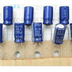 Nippon Chemi-con 220uF 10V Electrolytic Capacitor