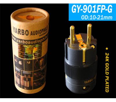 Yarbo 24K Gold Plated GY-901FP-G Europe Power Plug