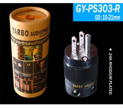 Yarbo 24K Rhodium Plated GY-PS303-R US Power Plug