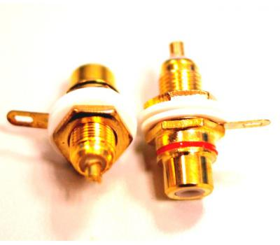 STD Gold RCA Female Socket Pair